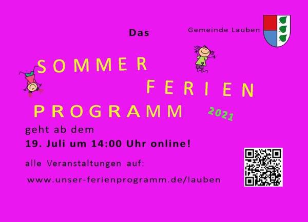 Ferienprogramm-Sommer